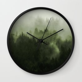 Drift - Green Mountain Forest Wall Clock