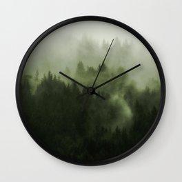 Drift - Green Mountain Forest Wall Clock