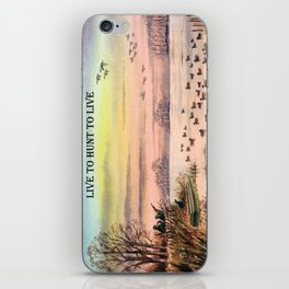 Live To Hunt To Live - Duck Hunters iPhone Skin