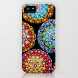 Colorful Mandala painted stones iPhone Case