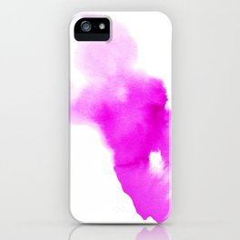 Magenta Watercolour iPhone Case