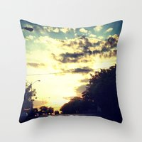 texas Throw Pillows featuring Texas by Camille Renee