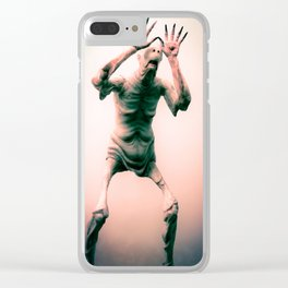 """""""Hungry...for children"""" Clear iPhone Case"""