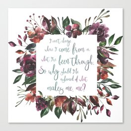 The Hate U Give Angie Thomas Quote Canvas Print