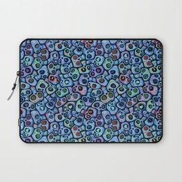 Calaveras del Dia de los Muertos azules. Laptop Sleeve