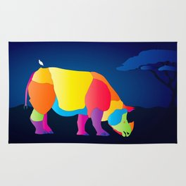 Paper Craft Rhino Rug