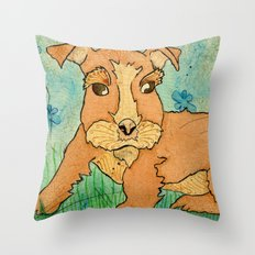 Frank the Puppy Throw Pillow