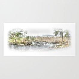 River Affric, Scotland - Landscape Art Print