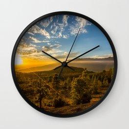 Brujas sunset Wall Clock
