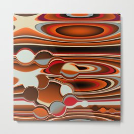 Abstract in Orange Metal Print