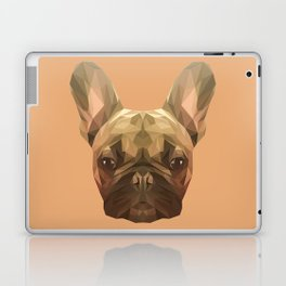 French bulldog puppy low poly. Laptop & iPad Skin