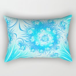 Abstract Christmas Ice Garden Rectangular Pillow