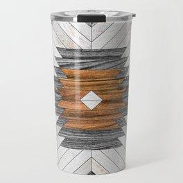 Urban Tribal Pattern 8 - Aztec - Wood Travel Mug