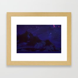 Arctic Mountain - Night Time Framed Art Print