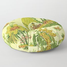 Chartreuse Chinoiserie Floor Pillow