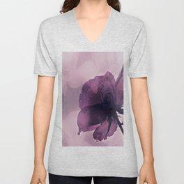 purple rose after the rain Unisex V-Neck
