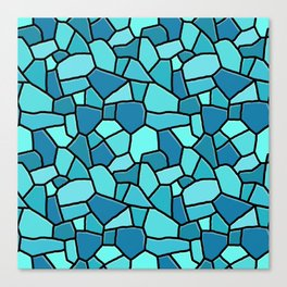 Stained Glass Blue Canvas Print