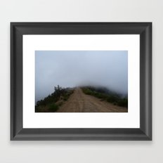 The Unknown Road Framed Art Print