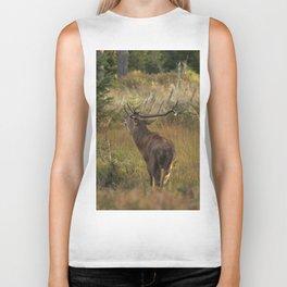 Red deer, rutting season Biker Tank
