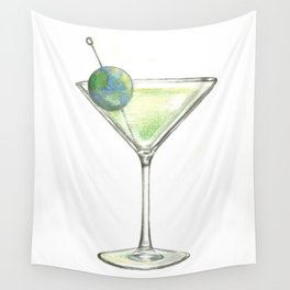 Big Martini in the sky Wall Tapestry