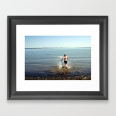 Into the drink Framed Art Print