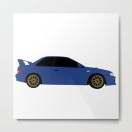 Subaru GC8 Metal Print