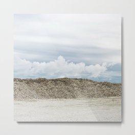 Oyster Shell Sky, Washington Landscape, Seashell Photograph, Northwest Metal Print