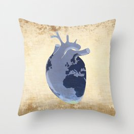 The earth is our heart - EARTH DAY '16 - all artist profits to be donated Throw Pillow