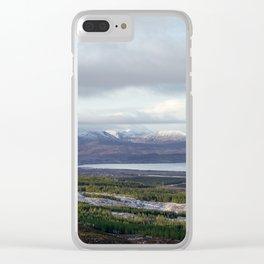 Winter Skye Clear iPhone Case