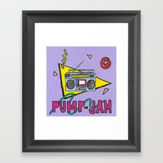 pump the jam Framed Art Print