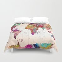 map Duvet Covers featuring MAP  by mark ashkenazi
