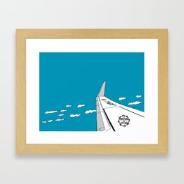 Airplane Wing Framed Art Print