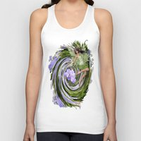 pixies Tank Tops featuring Green Flower fairy by Nadine May