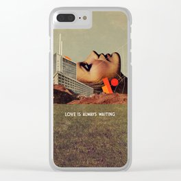 Love Is Always Waiting Clear iPhone Case