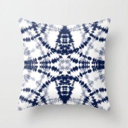 Tie Dye Indigo 4 Throw Pillow