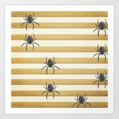 Descending Spiders Art Print