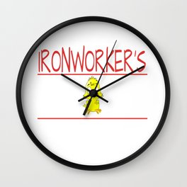 Ironworker's Chick Gift Wife Girlfriend product Wall Clock