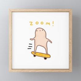 Honest Blob - Zoom! Framed Mini Art Print
