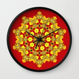 Ornamental Star (gold) Wall Clock