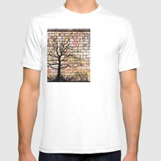 Graffiti Tree Mens Fitted Tee SMALL White
