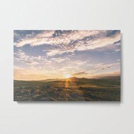 Sunset in Oklahoma Metal Print