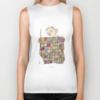 child Biker Tanks featuring sleeping child by Cecilia Sánchez