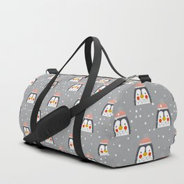 Christmas Penguin Duffle Bag