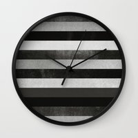 noir Wall Clocks featuring Noir by Elisabeth Fredriksson