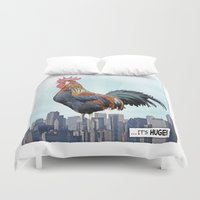 cock Duvet Covers featuring A HUGE COCK by John Medbury (LAZY J Studios)