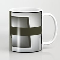 cross Mugs featuring Cross by Paper Possible