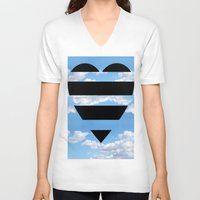 moschino V-neck T-shirts featuring Moschino Heart by cvrcak