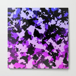 Gradient pink and purple camo. Metal Print
