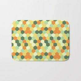 Hexagonal geometric pattern Bath Mat