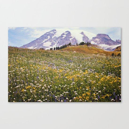 Rainier Flowers Canvas Print